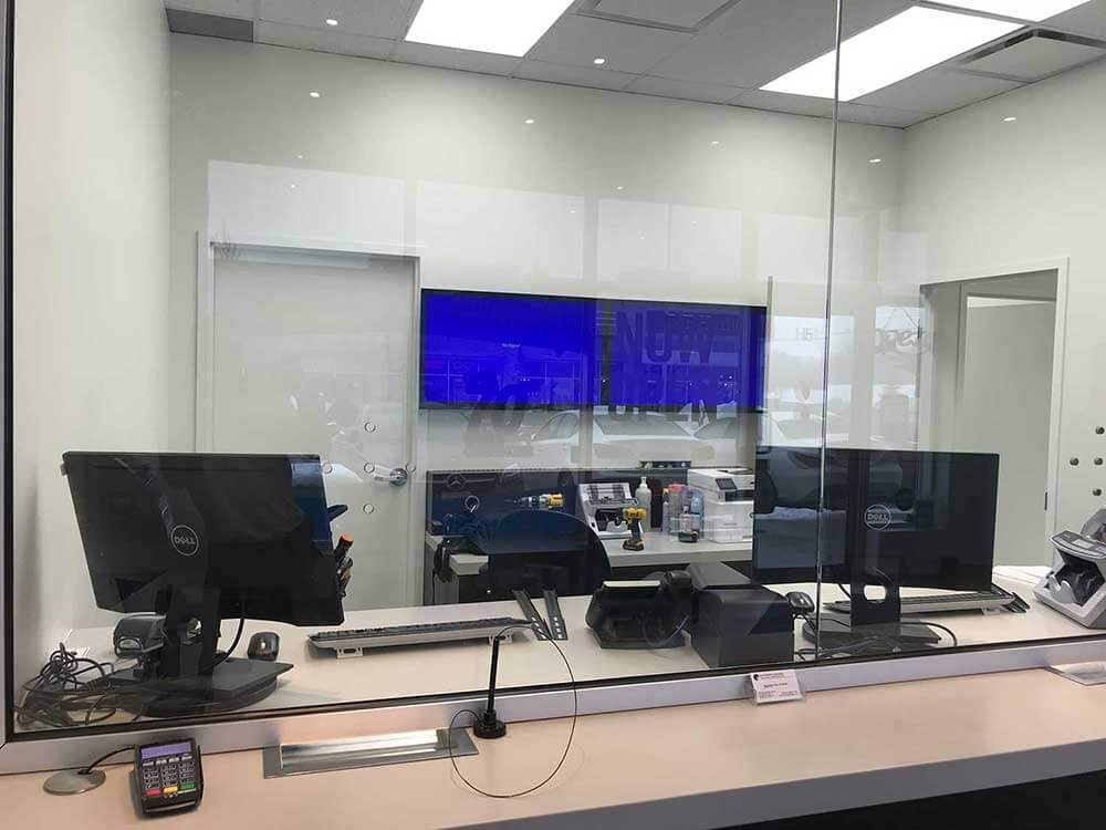 Commercial TV setup