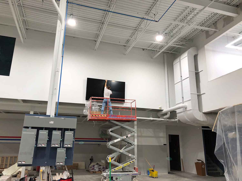 Industrial 4 into 1 screen setup installation 2